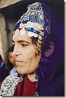 Turkoman woman wearing dowry